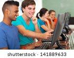 smiling male high school... | Shutterstock . vector #141889633