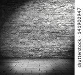 Dark Brick Wall Background In...
