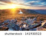 majestic sunset in the... | Shutterstock . vector #141930523