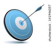 excellence concept. one arrow... | Shutterstock .eps vector #141946057