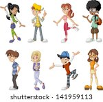 blonde,boy,brunet,cartoon,character,children,colorful,comic,face,family,friends,funny,gang,girl,happy