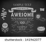 chalk label  typography ... | Shutterstock .eps vector #141962077