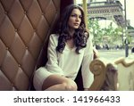 fashion shoot of attractive... | Shutterstock . vector #141966433