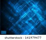 blue pcb | Shutterstock .eps vector #141979477