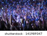rock festival audience at a... | Shutterstock . vector #141989347
