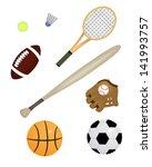 sports equipment | Shutterstock .eps vector #141993757