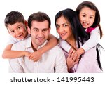 beautiful family portrait... | Shutterstock . vector #141995443