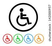 Wheelchair Handicap Icon In...