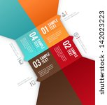 infographics options banner.... | Shutterstock .eps vector #142023223