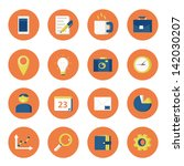 icon set | Shutterstock .eps vector #142030207