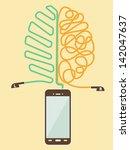 vector brain training with...   Shutterstock .eps vector #142047637