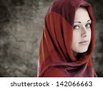 Young Arabic Woman In Wearing...