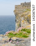 Small photo of Dun Aengus, an ancient fort on Inishmore, Aran Islands, Ireland