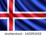 waving flag of iceland  vector | Shutterstock .eps vector #142092433