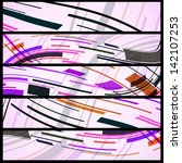 abstract banner for your design ... | Shutterstock .eps vector #142107253
