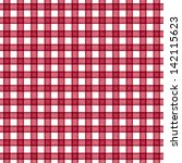 Seamless Red Gingham