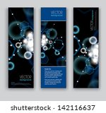abstract banners. set of three...   Shutterstock .eps vector #142116637