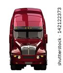 semi truck front view with a... | Shutterstock . vector #142122373