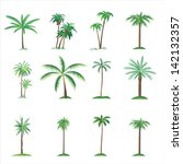 palm tree collection | Shutterstock . vector #142132357