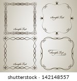 calligraphy frame set with... | Shutterstock .eps vector #142148557