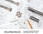 plumbing and drawings are on... | Shutterstock . vector #142152727