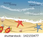 Beach Calendar For August 2013