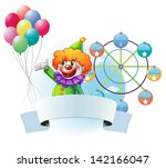 illustration of a clown with... | Shutterstock . vector #142166047