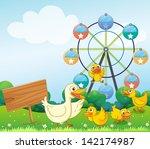 illustration of an empty board... | Shutterstock . vector #142174987