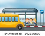 illustration of a yellow school ... | Shutterstock . vector #142180507