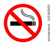 no smoking sign | Shutterstock .eps vector #142182853