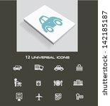 travel icon set vector   Shutterstock .eps vector #142185187