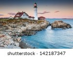 Portland Lighthouse In The...
