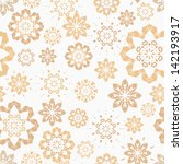 vector pattern   lacy flowers | Shutterstock .eps vector #142193917