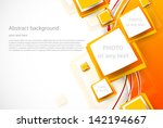 orange wavy background with... | Shutterstock .eps vector #142194667