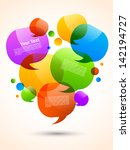 speech bubbles design | Shutterstock .eps vector #142194727