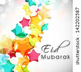 eid mubarak background with... | Shutterstock .eps vector #142202587
