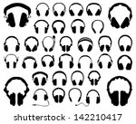 set of silhouettes of... | Shutterstock .eps vector #142210417