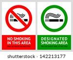 no smoking and smoking area... | Shutterstock . vector #142213177