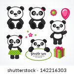 panda cartoon character in... | Shutterstock .eps vector #142216303