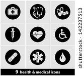health   medical icon set | Shutterstock .eps vector #142237513