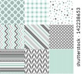 seamless patterns with fabric... | Shutterstock .eps vector #142238653