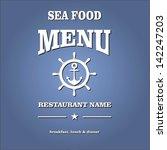 sea food menu | Shutterstock .eps vector #142247203