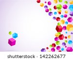 colorful rainbow cubes form a...