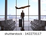 businessman in airport and... | Shutterstock . vector #142273117