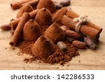 composition of chocolate ... | Shutterstock . vector #142286533