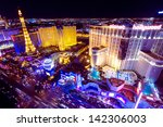 Stock photo las vegas nv may world famous vegas strip in las vegas nevada as seen at night on may 142306003