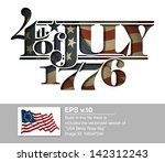 forth of july 1776 lettering... | Shutterstock .eps vector #142312243