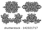 four ornamental floral... | Shutterstock . vector #142321717