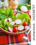 vegetables salad with radish...
