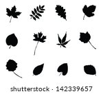 Set Of Silhouettes Of Foliage ...